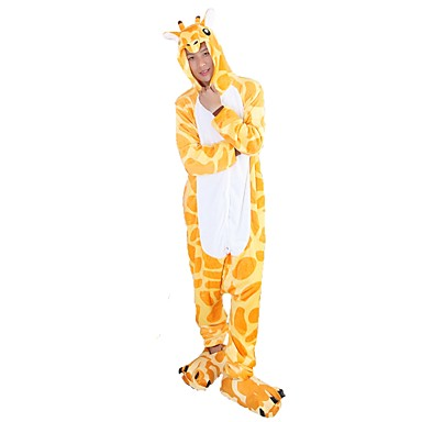 6bb5de00fe27 Adults  Kigurumi Pajamas Giraffe Onesie Pajamas Flannel Fabric Yellow  Cosplay For Men and Women Animal