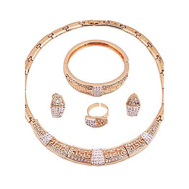 Női Arannyal bevont Ékszer szett - Klasszikus / Divat Arany Nyaklánc Kompatibilitás Esküvő / Parti / Eljegyzés