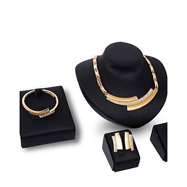 Női Strassz Strassz / Arannyal bevont Mások Ékszer szett - Személyre szabott / Divat Geometric Shape Arany Nyaklánc medálok Kompatibilitás