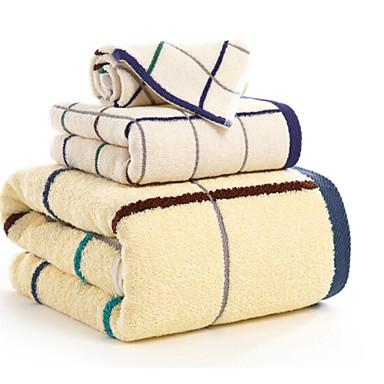 Ensemble de serviette de bain carreaux haute qualit 100 coton serviette de 6115050 2019 for Serviette de toilette haute qualite