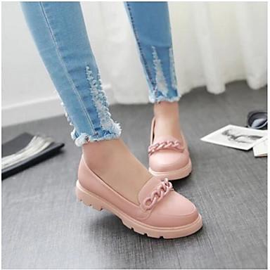 Damen Schuhe PU Sommer Komfort Loafers & Slip-Ons Für Normal Weiß Blau Rosa