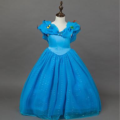 لفتاة فستان سادة حرير قطن رايون بوليستر كل الفصول بدون أكمام