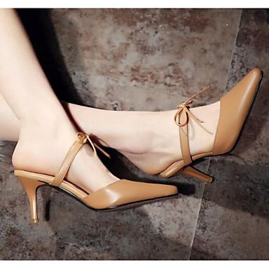 Damen Schuhe Echtes Leder PU Sommer Pumps Sandalen Für Normal Weiß Khaki