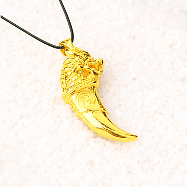 Men's Pendant Necklace, Chain Necklace - Gold Plated Gold