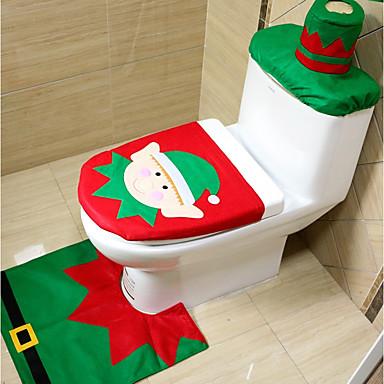 santa WC-üléshuzat szőnyeg fürdőszoba készlet papírtörölközővel karácsonyi ajándék új év otthoni dekoráció