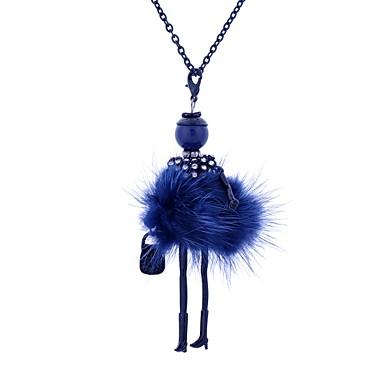 levne Dámské šperky-Dámské Náhrdelníky s přívěšky Princezna dámy Luxus Cikánské Cikánský Krajka Slitina Tmavomodrá Červená Světle zelená Náhrdelníky Šperky Pro Ležérní Klub