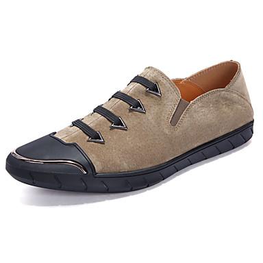 Férfi cipő Bőr Ősz / Tél Kényelmes Tornacipők Fehér / Fekete / Khakizöld