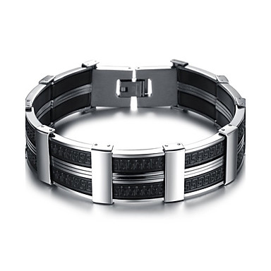 Men's Geometric Cuff Bracelet / Bracelet - Titanium Steel Simple Style, Fashion Bracelet Silver For Daily / Office & Career
