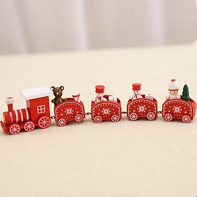 szép fából készült karácsonyi vonat játék dekoráció ajándék mini fából készült vonat modell a gyermekek számára