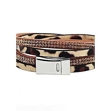 Men's Women's Leather Bracelet - Leather Animal Bracelet White / Black For Casual Going out
