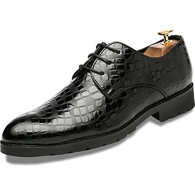 Férfi Formális cipők Nappa Leather Tavasz / Ősz Kényelmes Félcipők Fekete / Kék / Party és Estélyi / Ruha cipő