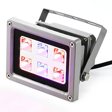 160-200 lm Voksende lysarmaturer 6 leds Høyeffekts-LED Blå Rød AC 85-265V