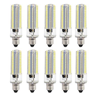 billige Elpærer-BRELONG® 10pcs 8 W LED-kornpærer 700 lm E12 E12 / E14 E17 152 LED perler SMD 3014 Mulighet for demping Varm hvit Hvit 220 V 110 V