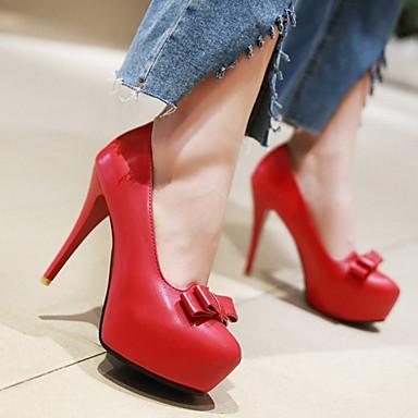 Noeud Talons Rouge à Chaussures Chaussures Talon Automne 06239085 Printemps Confort Beige Femme Aiguille Bout Nouveauté rond Polyuréthane 8U4qgxxOn