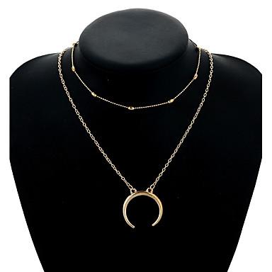 Női Nyaklánc medálok - MOON Vintage, Elegáns Arany, Ezüst Nyakláncok Kompatibilitás Hétköznapi, Előírásos