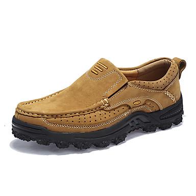Férfi cipő Nappa Leather Ősz / Tél Kényelmes Sportcipők Túrázó Sötétbarna / Khakizöld
