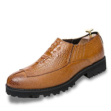 Men's Leatherette Spring / Fall Comfort Loafers & Slip-Ons Black / Yellow / Red