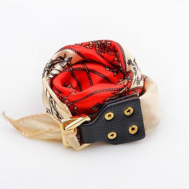זול תכשיטי נשים-בגדי ריקוד נשים צמידי עור פרח כפתור אופנתי עור צמיד תכשיטים אדום / כחול / ורוד עבור יומי קזו'אל