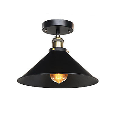 Diameter 30cm Industrial Ceiling Light Semi Flush Vintage Metal 1-Light Ceiling Lamp Dining Room Kitchen Light Fixture