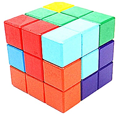 Building Blocks Wooden Puzzle IQ Brain Teaser Eco-friendly Wooden Classic Pieces Unisex Kid's Adults' Gift