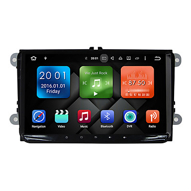 9 Zoll Quad Core Android 6.0 Auto Multimedia GPS Spieler System 2GB RAM Wifi&3g Ex-tv dab für vw magotan 2007-2011 golf 5/6 caddy polo