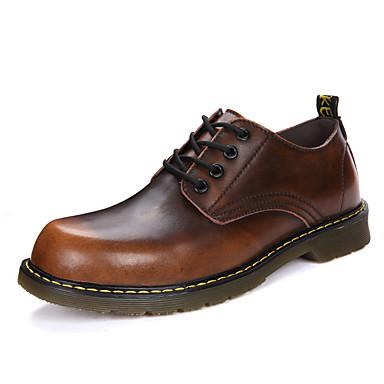 Férfi cipő Bőrutánzat Tél Ősz Katonai csizmák Félcipők Bokacsizmák Fűző mert Hétköznapi Hivatal és karrier Fekete Szürke Barna