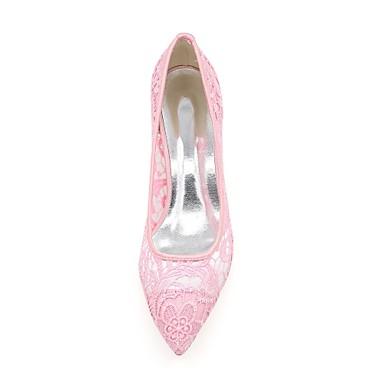 Noir Filet Printemps Ivoire Rose Mariage Eté Chaussures de Chaussures pointu Bout mariage Aiguille Talon 06242456 Escarpin Femme Basique 51wOEw