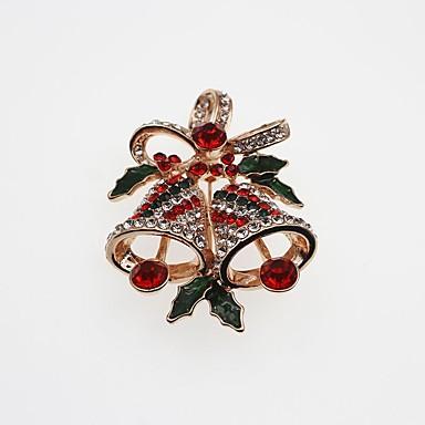 Férfi / Női Szintetikus gyémánt Melltűk - Klasszikus / Divat Geometric Shape Arany / Ezüst Bross Kompatibilitás Karácsony / Ajándék
