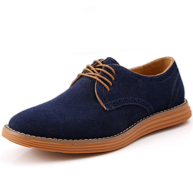 Men's Cowhide Fall / Winter Comfort Oxfords Coffee / Blue / Light Brown