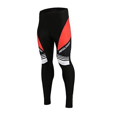 Arsuxeo Férfi Kerékpáros nadrág Bike Alsók Gyors szárítás Klasszikus Poliészter, Elasztán Fekete / vörös Kerékpáros ruházat