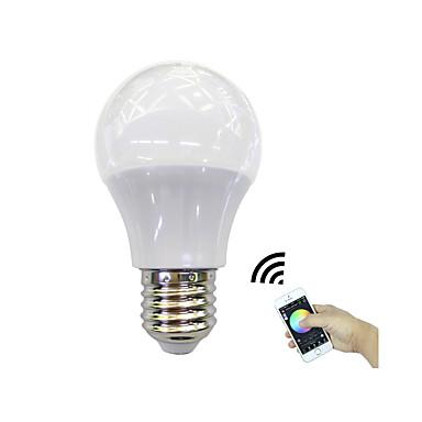 1db 4.5W 350lm E27 Okos LED izzók 3 LED gyöngyök Nagyteljesítményű LED Bluetooth / APP vezérlés RGB + Meleg 100-240V