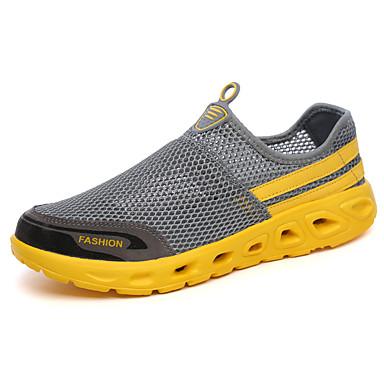 Miesten kengät PU Kevät Syksy Comfort Urheilukengät Jouksu varten ulko- Musta Harmaa Purppura Sininen