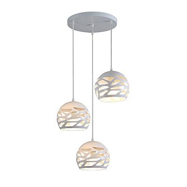 3-Light Cluster Pendant Light Downlight Painted Finishes Metal Adjustable, Designers 110-120V / 220-240V Bulb Not Included / E26 / E27
