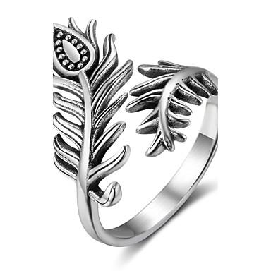 Női Ezüst Band Ring - Szárnyak / Toll Személyre szabott Ezüst Gyűrű Kompatibilitás Ajándék