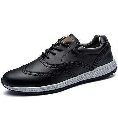 Férfi cipő Bőr Tavasz Ősz Kényelmes Tornacipők Fűző mert Hétköznapi Hivatal és karrier Fekete