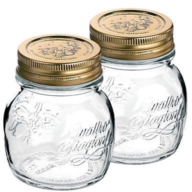 2 Kitchen Glass Kitchen Canisters