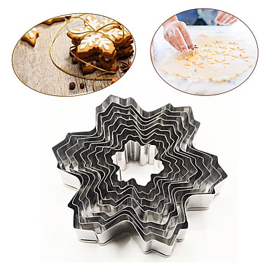 Bakeware eszközök Rozsamentes acél + A ragú ABS Sütés eszköz Mindennapokra süteményformákba 1set