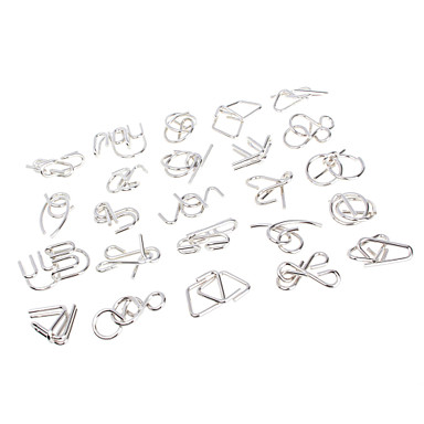 Nine Serial Toy Solution Buckle Chinese Puzzle Ring Unlatching Intellectual Girls' Gift 24pcs