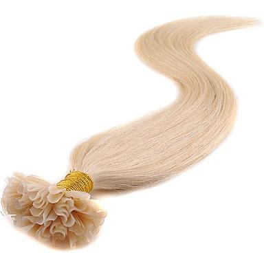 Febay Fúziós / U típus Human Hair Extensions Egyenes Emberi haj tincsek Emberi haj Nano Női