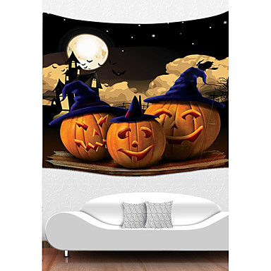 Holiday Wall Decor Polyester Halloween Wall Art, Wall Tapestries Decoration