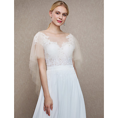 Tulle Wedding / Party / Evening Women's Wrap With Beading Capes