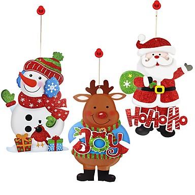 1db Hóember Santa Ünneő Matricák Díszítések Szabadság, Ünnepi Dekoráció Ünnepi díszek
