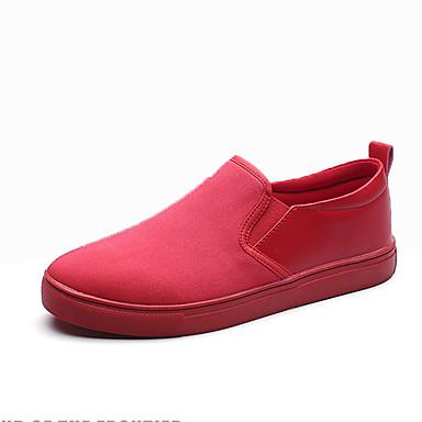 Férfi cipő PU Tavasz / Ősz Kényelmes Papucsok & Balerinacipők Fehér / Fekete / Piros