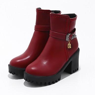 Femme Bottes Botillons Chaussures rond Automne Talon Plateau Combat boîtes Bottier 06241758 à Similicuir Bottes Mode Bout Hiver de la xxI8Bw