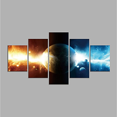 Rolled Canvas Prints Abstract, Five Panels Canvas Horizontal Print Wall Decor Home Decoration