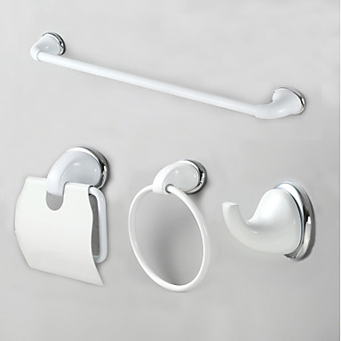 Bathroom Accessory Set Modern Style Stainless Steel + A Grade ABS 4pcs - Hotel bath Toilet Paper Holders / Robe Hook / tower bar