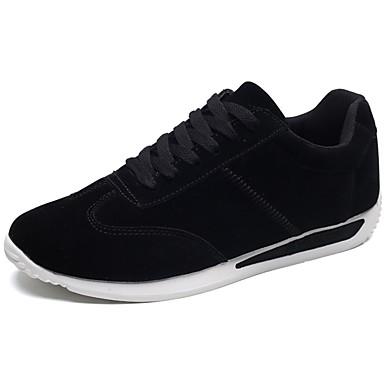 Women's Shoes PU(Polyurethane) Spring / Summer Comfort Sneakers Low Heel White / Black / Gray
