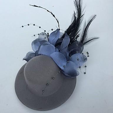 billige Hodeplagg til fest-Tyll / Fjær fascinators / blomster / Hatter med Blomster 1pc Bryllup / Spesiell Leilighet / Fest / aften Hodeplagg