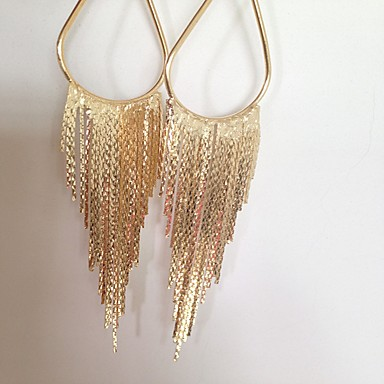 Women's Tassel / Long Stud Earrings / Drop Earrings - Gold Plated Fashion, Statement Gold / Silver For Party / Casual