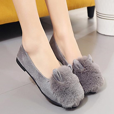 On Dedo de Negro bajo Verde Zapatos Vellón Otoño redondo Mujer taco Slip 06242322 Confort y Gris Zapatos Ejército AHWqv